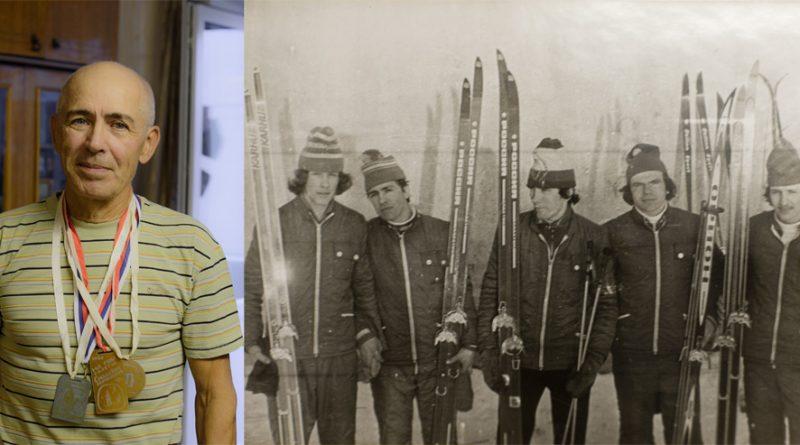 С. Яров - победитель городских и областных соревнований. Сергей (второй слева) на соревнованиях (1980-е гг.).