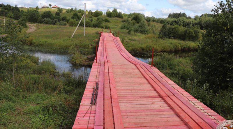 Завершается ремонт через реку Шорегу.